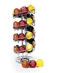Neotechs® Revolving Spiral 32 Capsule Coffee Holder Tower Stand Rack for Dolce Gusto