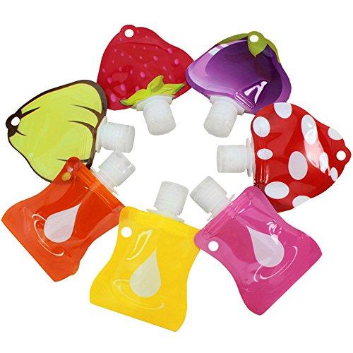 8Packungen Multifunktions Cute KOMPAKT Make-up Behälter Travel pouch- Lebenslange Garantie Serie–für die Reise oder den täglichen Gebrauch BPA-frei und TSA Fluggesellschaften zugelassen (28–30ml), 7 Colors (Creme Gesicht Behälter Reisen)