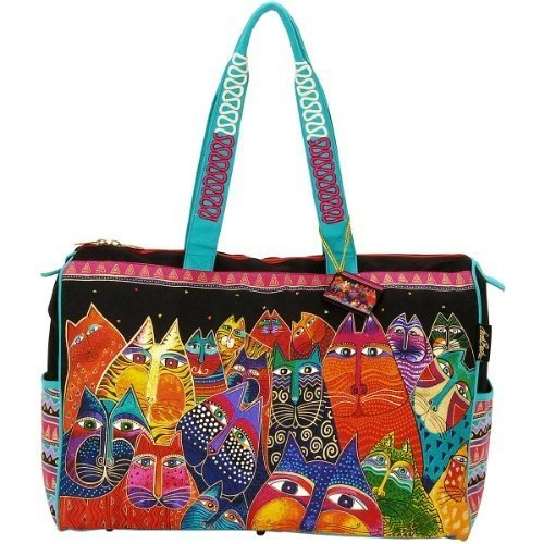laurel-burch-laurel-burch-travel-bag-zipper-top-21-pollici-da-8-pollici-da-16-pollici-fantasticats