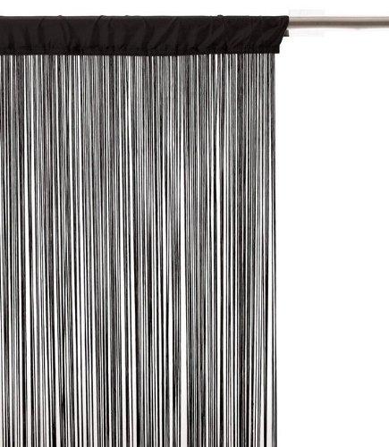 Izaneo - Rideau fil noir - Taille 90 x 200 cm