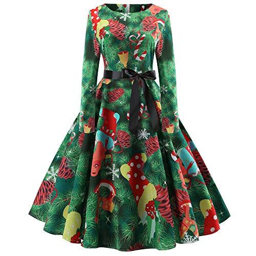 Weihnachtenkleid Damen Elegant Abendkleid Vintage Weihnachten Party Kleid Mesh Brautkleid Retro...