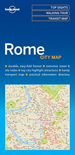 Rome City Map - 1ed - Anglais par Lonely Planet LONELY PLANET