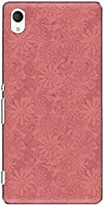 The Racoon Lean printed designer hard back mobile phone case cover for Sony Xperia M4 Aqua. (Pink Daisy)