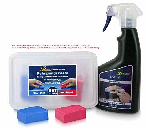 Petzoldts Reinigungsknete-Gleitmittel 2er Pack, zur perfekten Lackreinigung und Lackpolitur sowie vor einer Lackkonservierung