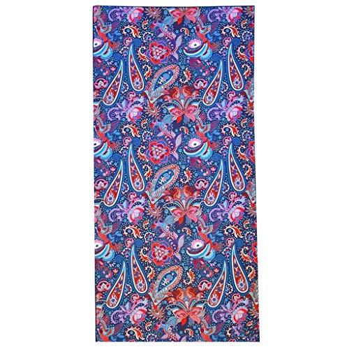 Dorical Rechteck Strandtuch für Damen Frauen 160cm x 70cm Strand Yoga Matten Schal Schal,Double Drucken Tapestry Tischdecke Picknickdecke Schal Outdoor Cover Reduziert(A,One size)
