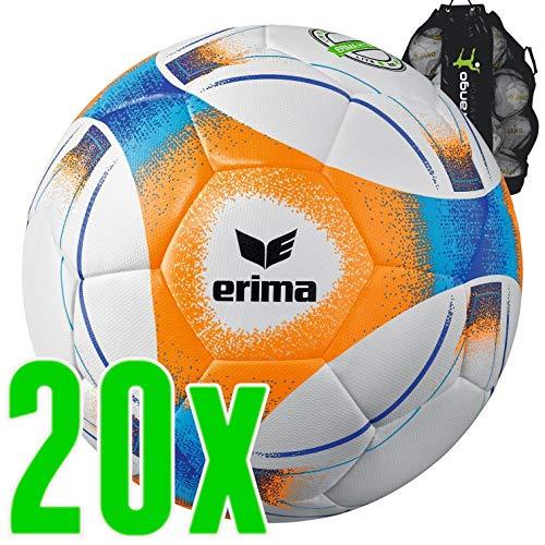 Sarango Sport Erima Hybrid Lite 290 Fußball 20er Ballpaket inkl. Ballsack NEU, Größe:5