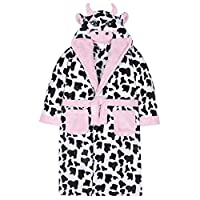 Vedder Girls Dressing Gown Warm Winter Robes Night Lounge Wear (Cow, 9-10)