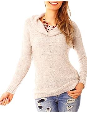 Fragola Moda - Jerséi - suéter - para mujer beige Talla única