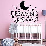 wukongsun Dessin animé de rêve Grand Un Petit Vinyle Sticker Mural décoration Chambre de bébé Chambre Enfant décoration Sticker Mural 58cmX73cm