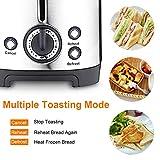 Homeleader Toaster mit 2 Brotscheiben, Edelstahl Doppelschlitz-Toaster mit 7 Bräunungsstufen, abnehmbarer Krümelschublade, 700W, Silver - 4