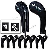 Taylormade golf Schlägerkopfhüllen Anzahl Print Golf Eisen deckt mit Reißverschluss langen Hals 10pcs/set MT/ TL01 schwarz