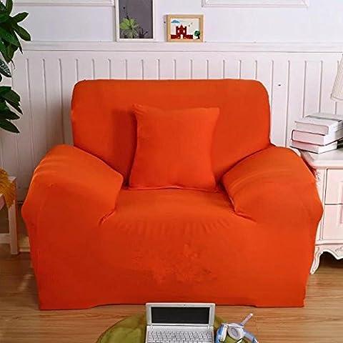 Sofabezug Strecken Schutzhüllen 1 Sitzer Beschützer Multifunktion Couch Abdeckung Aufmachung Weich Bilden Passen Unterhose Beständig Stuhlbezug , 90-140 cm , orange , 2