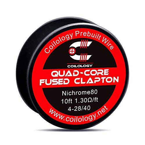 Coilology QUAD-CORE FUSED CLAPTON Wire 10ft = 3m Draht mit 1,30 Ohm/ft Selbstwickler Verdampfer RDA RBA RTA Nichrome Ni80 Coils