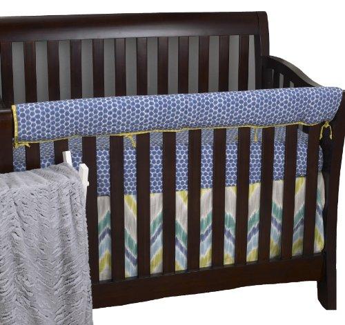 Cotton Tale Designs avant Crib Rail Cover Up Set, Zebra Romp par Cotton Tale Designs
