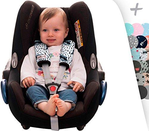 Gurtpolster Gurtpolster Set - universal für Babyschale, Buggy, Kinderwagen, Autositz (z.B. Maxi Cosi City SPS, Cabrio, Cybex Aton usw.) Janabebe