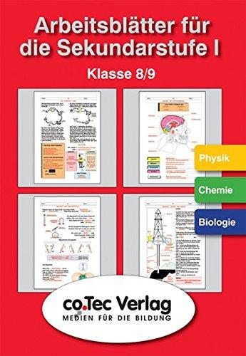 Arbeitsblätter für die Sekundarstufe I.  Physik /Chemie /Biologie Klasse 8 - 9. CD-ROM ab Windows 95/98/NT/2000/XP.  (Lernmaterialien)