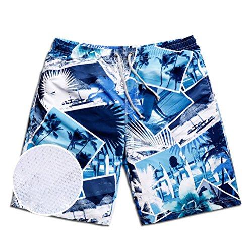 XIXI Männer Können Badeanzüge Shorts Mit Allen Tuch Seaside Strand Strand Hosen Gesäumt Werden , M,m (Speedo Badeanzug Indien)