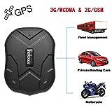 Winnes Winnes TKMARS 3G GPS Tracker, GSM/WCDMA/GPRS 3G Starker Magnet GPS Tracking Fahrzeug Tracker Echtzeit Monitoring System, Wasserdicht GPS Locator Anti Verloren GPS Ortungsgerät mit APP für Smartphone