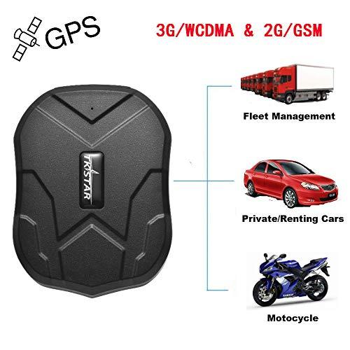 Winnes TKMARS 3G GPS Tracker, GSM/WCDMA/GPRS 3G Starker Magnet GPS Tracking Fahrzeug Tracker Echtzeit Monitoring System, Wasserdicht GPS Locator Anti Verloren GPS Ortungsgerät mit APP für Smartphone