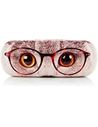 Brillenetui BROWN EYED CAT WITH GLASSES black