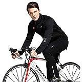 BeIM Herren Radtrikot Set Langärmeliger Radanzug Winter Herbst Fahrradjacke Fahrradbekleidung Set mit Fleece-Innenfutter Sportanzug Outdoorbekleidung für Wandern