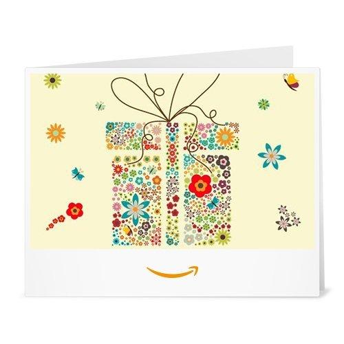 Amazon.de Gutschein zum Drucken (Geschenkbox mit Blumen)