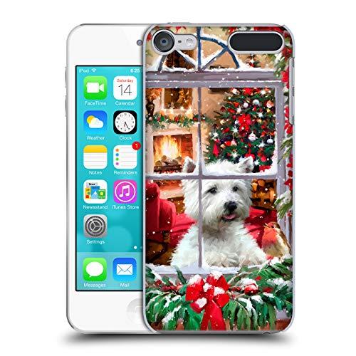 Head Case Designs Offizielle The Macneil Studio Hund Und Rotkehlchen Weihnachtstiere Harte Rueckseiten Huelle kompatibel mit Touch 6th Gen/Touch 7th Gen -