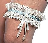 Breites Strumpfband für die Braut Spitze weiss creme oder blau Braut/Hochzeit (creme / ivory)