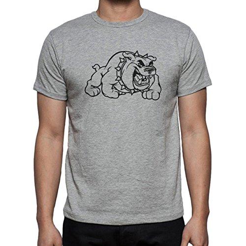 Dog Pets Puppies Animal Pump Angry Herren T-Shirt Grau