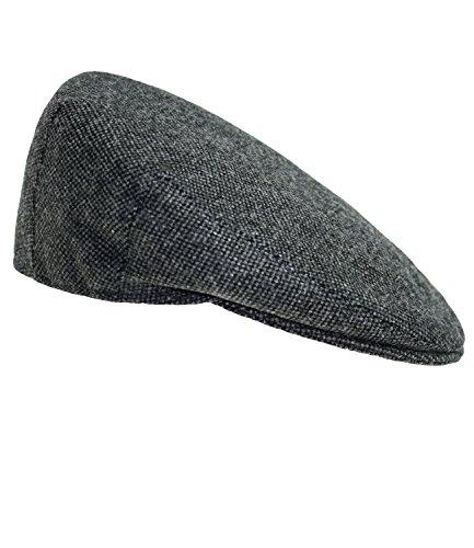renflatcap Flatcap Schiebermütze Gatsby Schirmmütze Wintermütze Sportmütze meliert mit Futter für Männer (FI-42160-W16-HE1-88-56) in Anthrazit, Größe 56 inkl Hutfibel ()