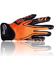 Full Force Titanium Lite American Football Gants Récepteur, Orange, Taille S–XL