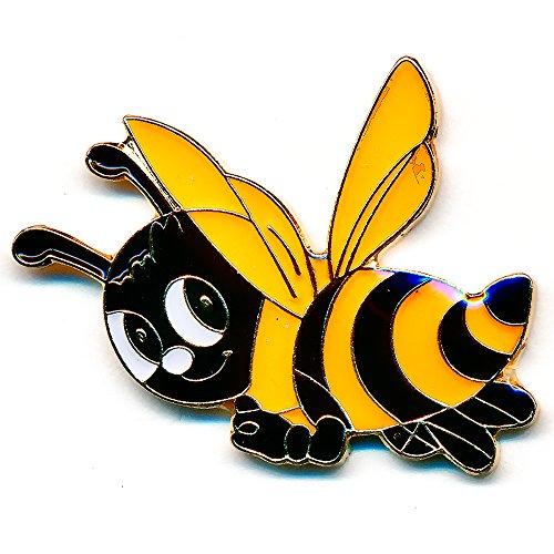 Biene Honigbiene Maja Honey Bee Badge Metall Button Pin Anstecker 0802 -
