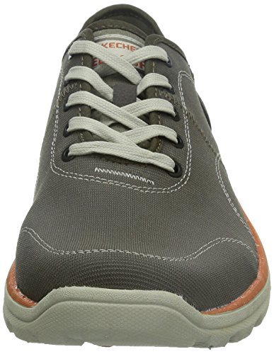 Skechers Superior plame, Baskets Basses homme Vert - Green - Grün (OLV)