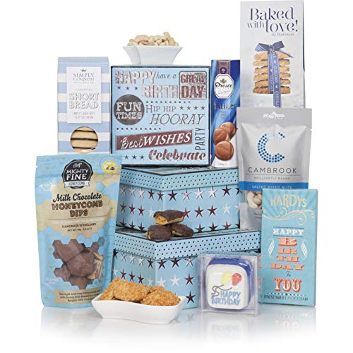 Birthday Treats Tower Hamper - The Perfect Gift Hamper To Say Happy Birthday - Birthday Hampers and Celebration Gift Baskets