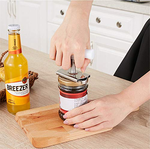 QINAIDI Einmachglasöffner, Edelstahldeckel ohne Einmachglasöffner, schnell zu öffnen, für Arthritis, für den täglichen Gebrauch