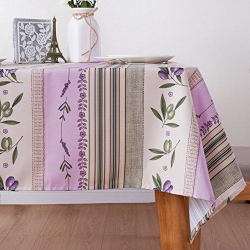 ZC&J Nappes de style pastoral coton polyester multi-usages, poussière et lavables nappes, tissus et pique-nique tapis tissu décoratif,A,90cm*145cm