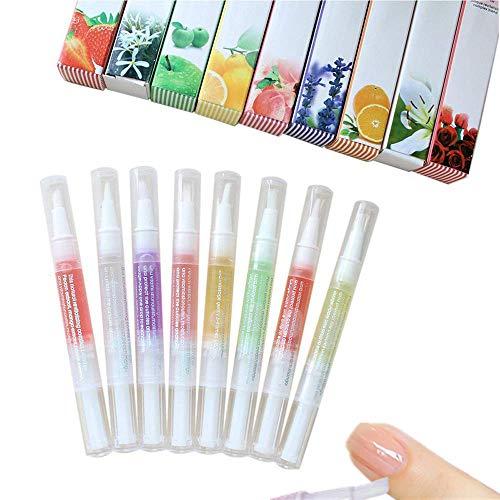 8tlg Nagelpflegeöl nagelöl stift Nagelöl Nagelpflege aber in verschiedenen Aromen, Nagelhautpflege-Öl, Nagelöl Nagel Öl Pinsel Pen Set, Nagelhaut Pflegestift, Cuticle-Pen