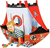 Pirate Ship Indoor & Outdoor Childrens Playhouse Ball Pit Pop Up Play Tent - Balls Included
