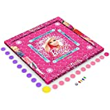 Zitto Barbie Kids Carrom Board (20x20 inch, Multi Color)