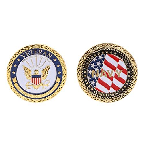 ruiruiNIE Gedenkmünze amerikanische Marine-Militärveteran-Sammlungs-Kunst-Geschenk-Andenken