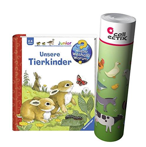 Ravensburger Junior Kinder-Buch Band 15   Unsere Tierkinder + Bauernhof Tiere Poster by Collectix