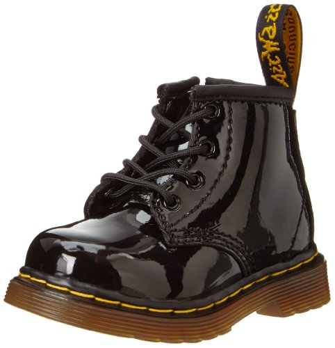 Dr. Martens 1460 I, Unisex-Kinder Klassische Stiefel, Schwarz (Black Patent Lamper 002), 21.5 EU - Infant Black Patent Schuhe