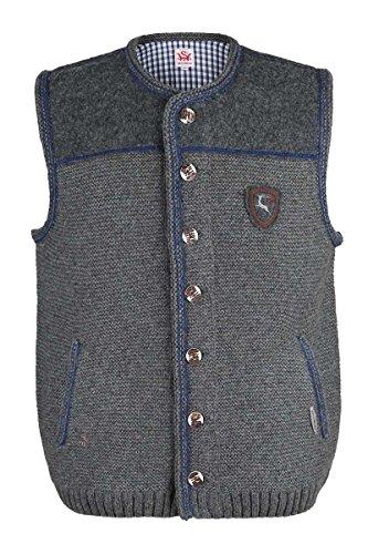 Herren Spieth & Wensky Trachten Strickweste grau-blau 'Finn', grau-blau, M