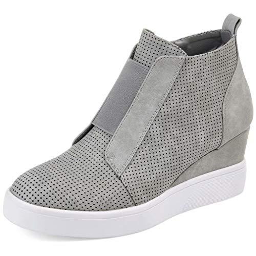 Botines Mujer Cuña Planos Invierno Planas Botas Tacon Casual Zapatos para Dama Plataforma 5cm Elegante Zapatillas Calzado Moda Negro Rosa Marrone Grigio 34-43 GY35