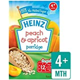 Heinz Petit-Déjeuner De Pêche Et D'Abricot Céréales 4 Mths + 125G - Paquet de 6