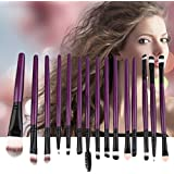 New Arrival Set Of 15PCS Professional Pieces Brushes Pack Complete Make-up Brushes