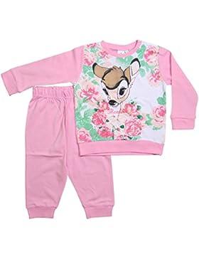 Bambi Kollektion 2017 Schlafanzug 74 80 86 92 98 Mädchen Pyjama Disney Neu Reh Rosa