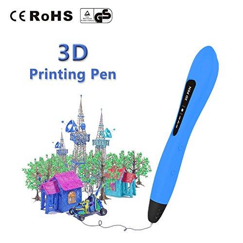 3D-Druckstift 3D Printing Pen für Kinder, mit PCL-Zeichnungsvorlagen (Blau) für Kinderspielzeug und Geschenke von LAOPAO