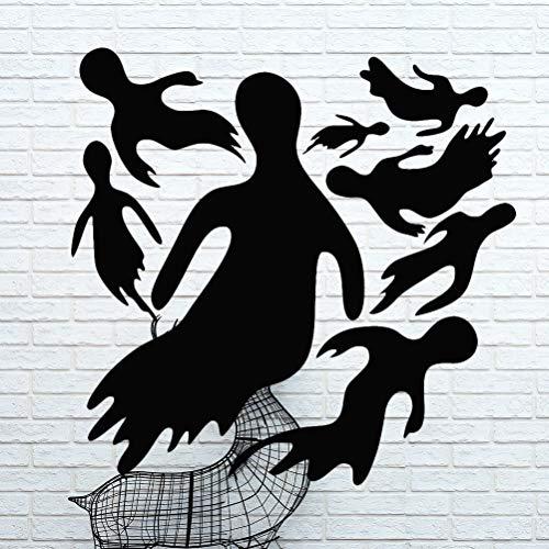 Toyvian Adesivo per Halloween Ghost Wand- und Fensteraufkleber klammert Adesivi per Halloween Partydekorationen (Nero) (Fenster Halloween Klammert)