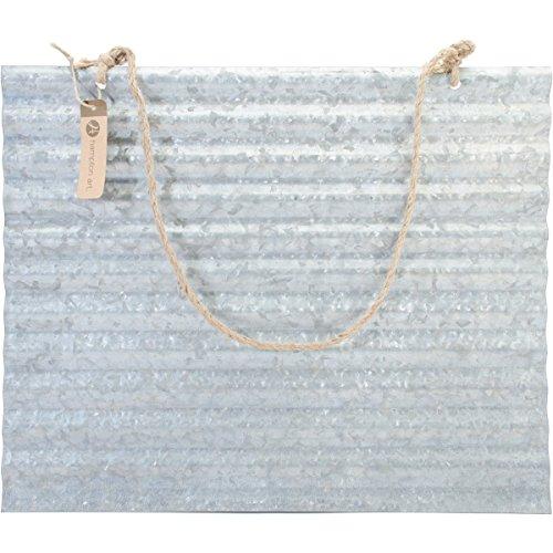 Hampton Art La Media ondulé Galvanisé à suspendre Palette 16 X 20-inch-with jute Cintre